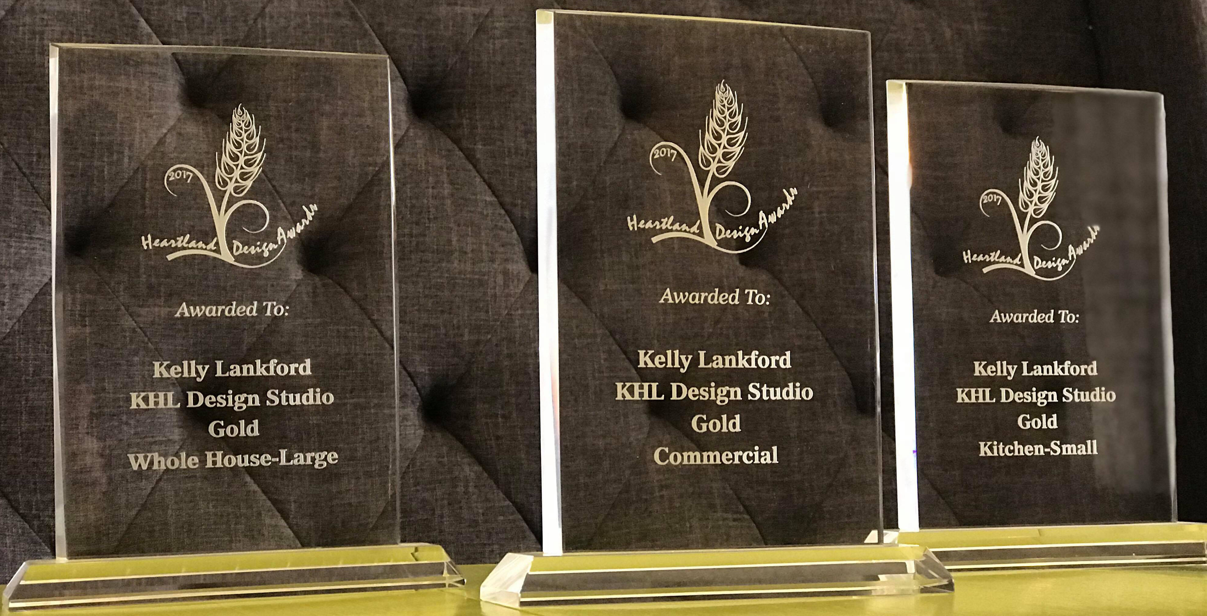 picture of awards won by KHL Design Studio